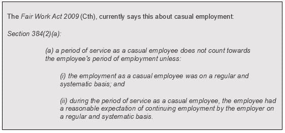 Fair Work Australia Excerpt on Casual Employment